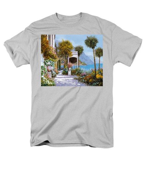 Lake Como-la passeggiata al lago T-Shirt by Guido Borelli