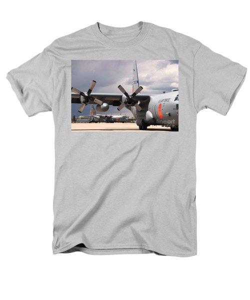 Men's T-Shirt  (Regular Fit) featuring the photograph Maffs C-130s At Cheyenne by Bill Gabbert