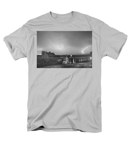 McIntosh Farm Lightning Thunderstorm View BW T-Shirt by James BO  Insogna