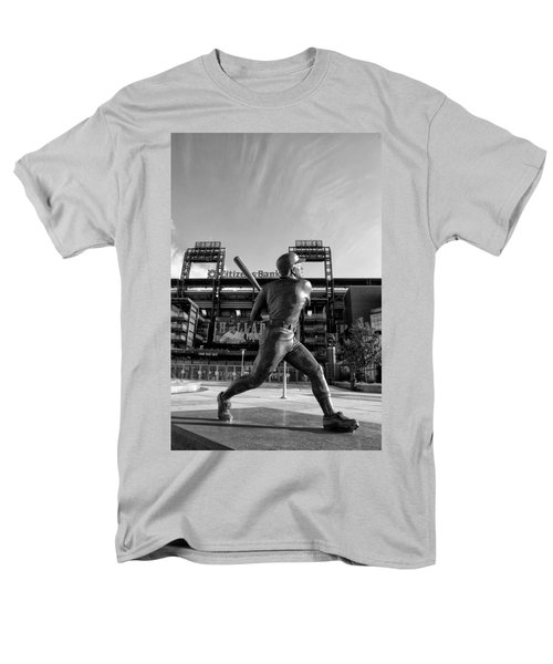 Mike Schmidt Statue in Black and White T-Shirt by Bill Cannon