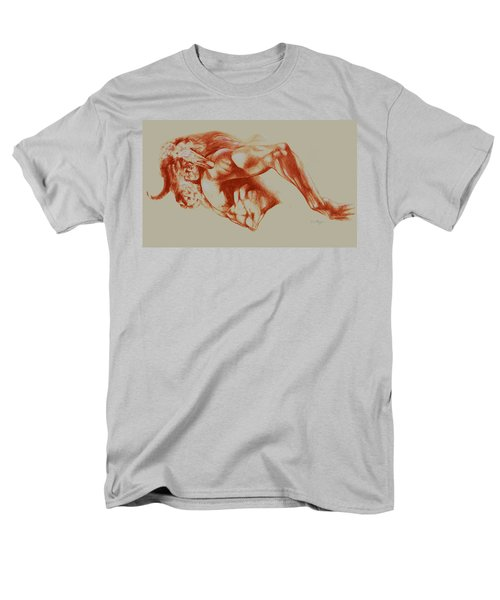 North American Minotaur Red Sketch Men's T-Shirt  (Regular Fit) by Derrick Higgins