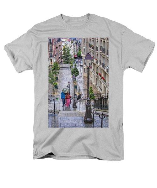 Paris Sous La Pluie Men's T-Shirt  (Regular Fit) by Nikolyn McDonald