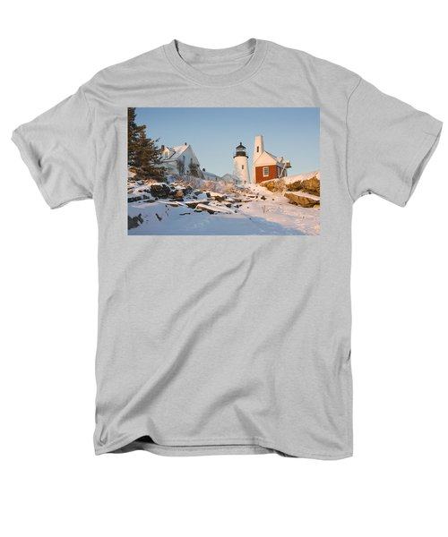 Pemaquid Point Lighthouse Winter in Maine  T-Shirt by Keith Webber Jr