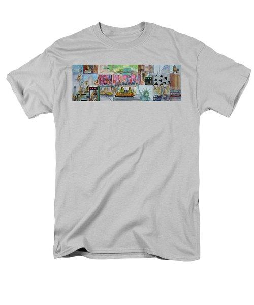 Postcards From New York City Men's T-Shirt  (Regular Fit) by Jack Diamond
