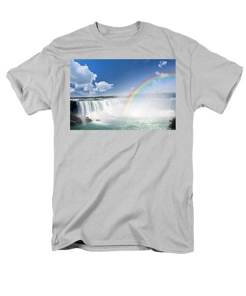 Rainbows at Niagara Falls T-Shirt by Elena Elisseeva