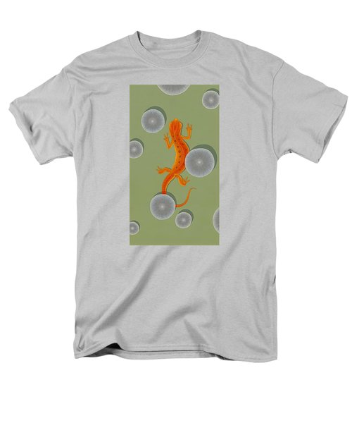 Red Eft Newt Men's T-Shirt  (Regular Fit) by Nathan Marcy