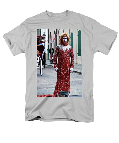 Red Sequined Mime T-Shirt by Kathleen K Parker