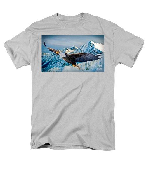 Soaring Bald Eagle T-Shirt by Gary Keesler
