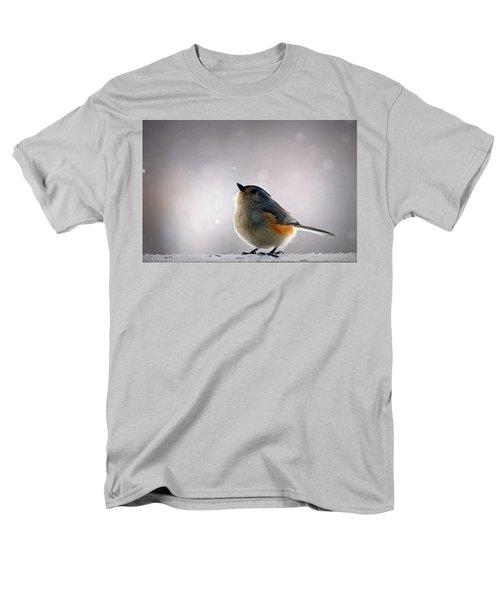 Tufted Titmouse Men's T-Shirt  (Regular Fit) by Cricket Hackmann