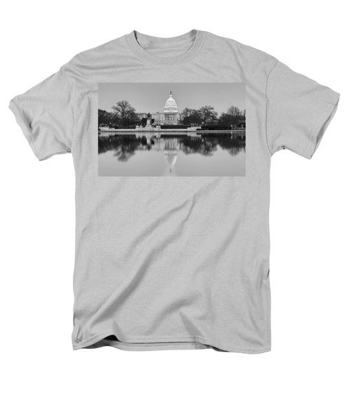 United States Capitol Building BW T-Shirt by Susan Candelario