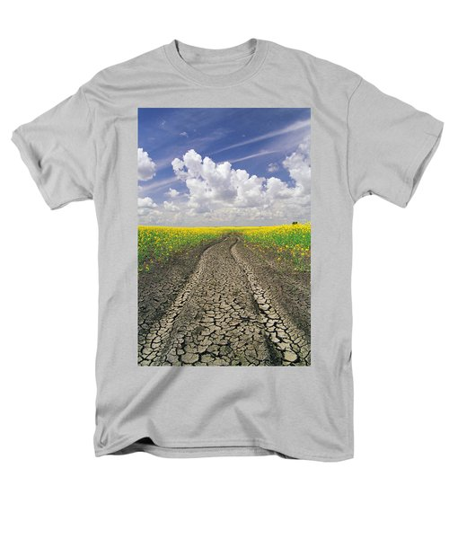 Dried Up Machinery Tracks T-Shirt by Dave Reede