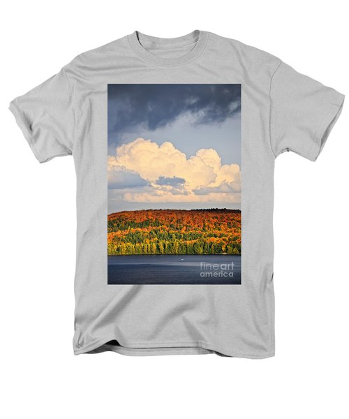 Fall forest and lake T-Shirt by Elena Elisseeva