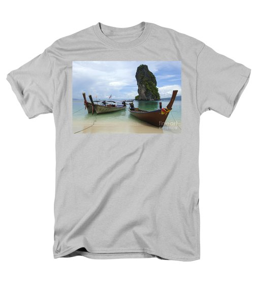 Long Tail Boats Thailand T-Shirt by Bob Christopher