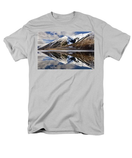 Reflection In Lake Pearson, Castle Hill T-Shirt by Colin Monteath