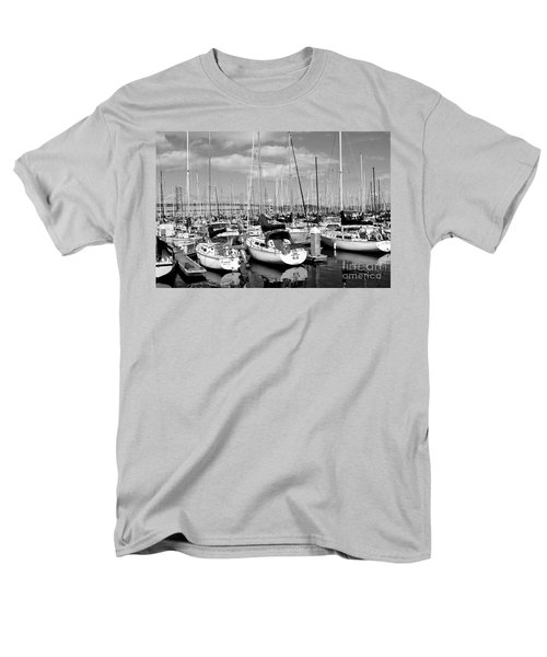 Sail Boats at San Francisco China Basin Pier 42 With The Bay Bridge in The Background . 7D7666 T-Shirt by Wingsdomain Art and Photography