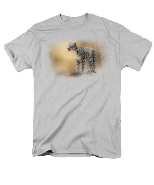 Snow Leopard Men's T-Shirt  (Regular Fit) by Jai Johnson