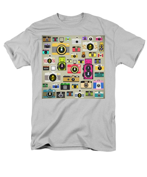retro camera pattern T-Shirt by Setsiri Silapasuwanchai