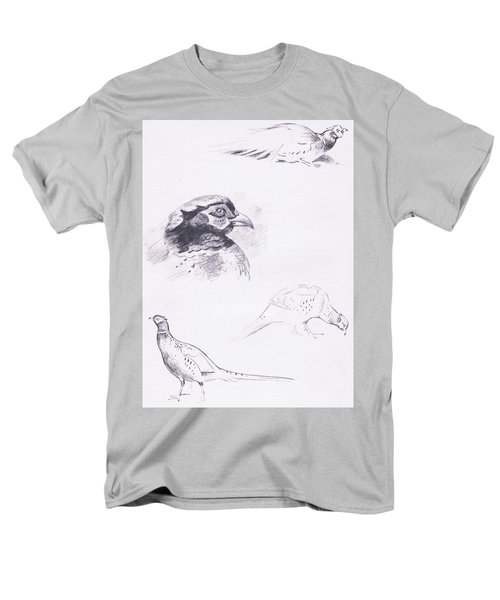 Pheasants Men's T-Shirt  (Regular Fit) by Archibald Thorburn