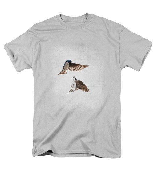Airobatics - Tree Swallows Men's T-Shirt  (Regular Fit) by Jai Johnson