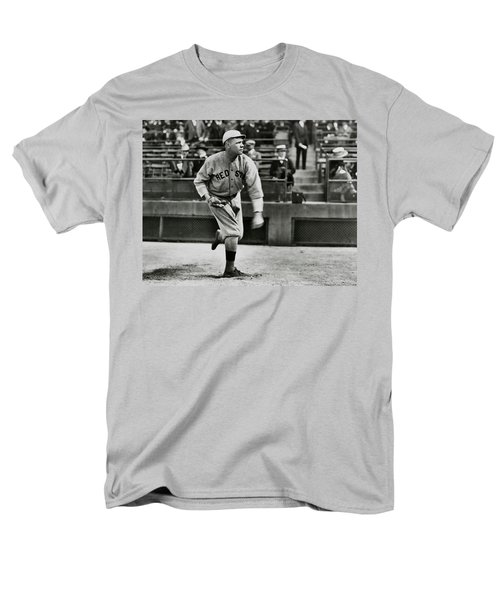 Babe Ruth - Pitcher Boston Red Sox  1915 Men's T-Shirt  (Regular Fit) by Daniel Hagerman