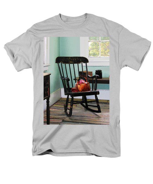 Basket of Yarn on Rocking Chair T-Shirt by Susan Savad