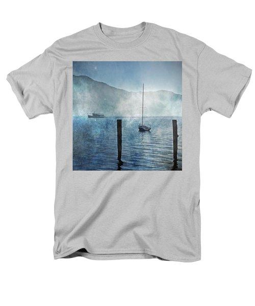 boats in the fog T-Shirt by Joana Kruse