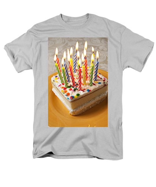 Candles on birthday cake T-Shirt by Garry Gay