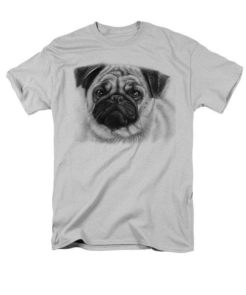 Cute Pug Men's T-Shirt  (Regular Fit) by Olga Shvartsur