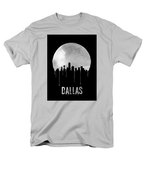 Dallas Skyline Black Men's T-Shirt  (Regular Fit) by Naxart Studio