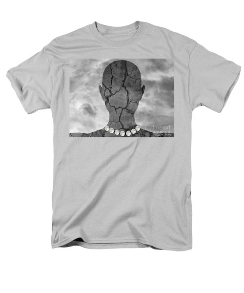 Feminine Figure With Moon Necklace T-Shirt by Dave Gordon