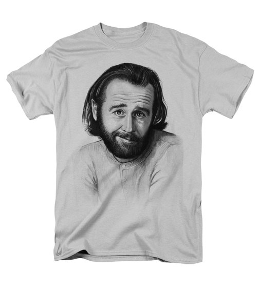 George Carlin Portrait Men's T-Shirt  (Regular Fit) by Olga Shvartsur