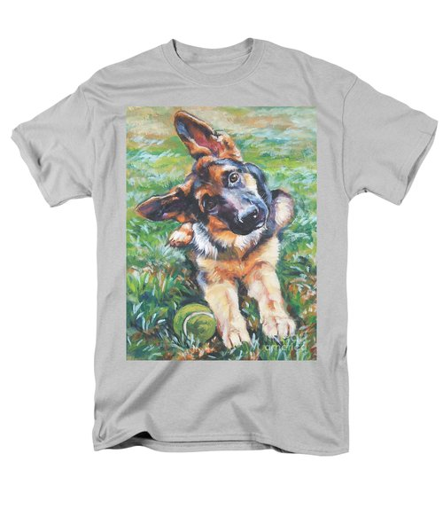 German shepherd pup with ball T-Shirt by L A Shepard