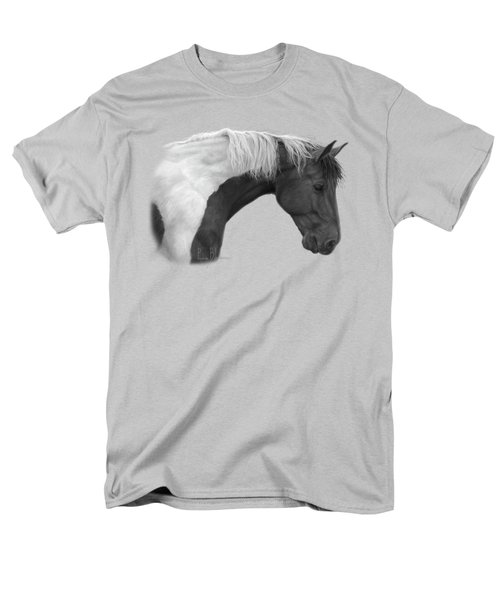Intrigued - Black And White Men's T-Shirt  (Regular Fit) by Lucie Bilodeau