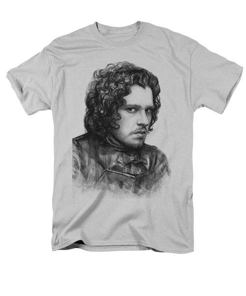 Jon Snow Game Of Thrones Men's T-Shirt  (Regular Fit) by Olga Shvartsur