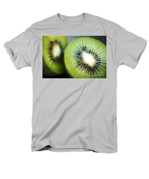 Kiwi Fruit Halves Men's T-Shirt  (Regular Fit) by Ray Laskowitz - Printscapes