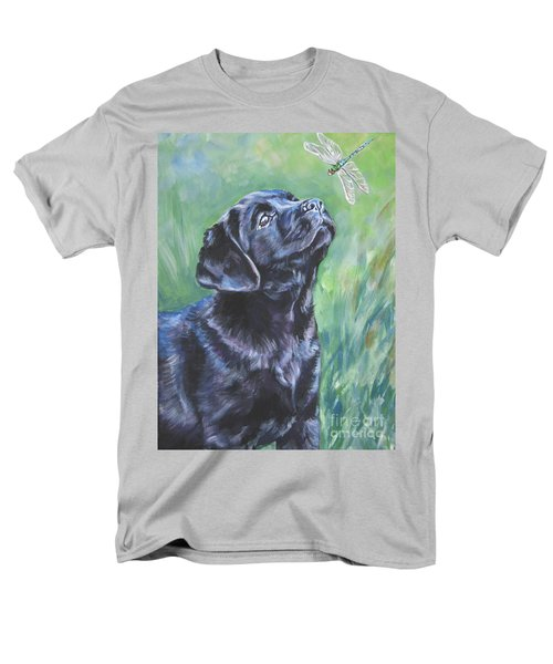 Labrador Retriever pup and dragonfly T-Shirt by L A Shepard