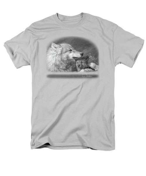 Mother's Love - Black And White Men's T-Shirt  (Regular Fit) by Lucie Bilodeau