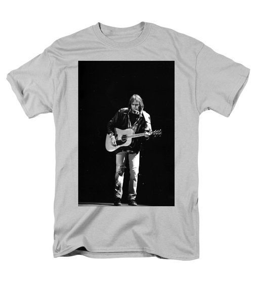 Neil Young Men's T-Shirt  (Regular Fit) by Wayne Doyle