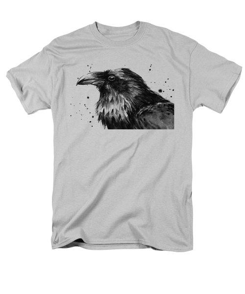 Raven Watercolor Portrait Men's T-Shirt  (Regular Fit) by Olga Shvartsur