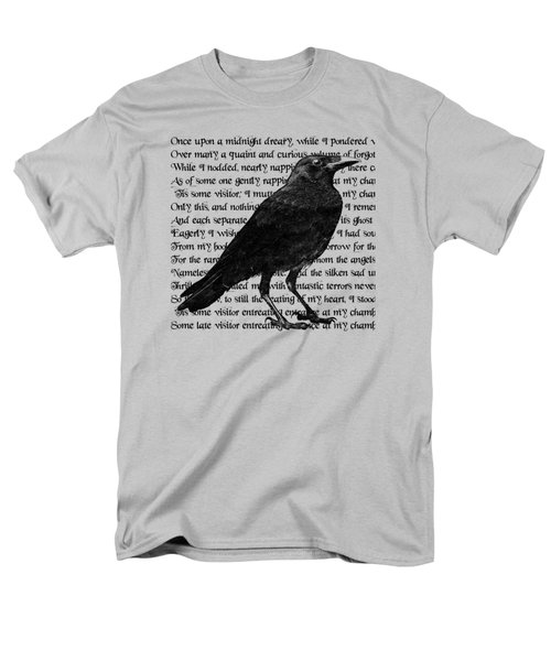 The Raven Poem Art Print Men's T-Shirt  (Regular Fit) by Sandra McGinley