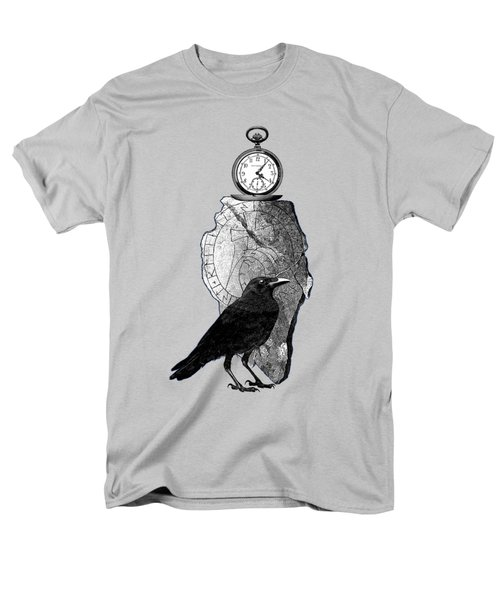The Raven, The Pocket Watch, And The Runestone Men's T-Shirt  (Regular Fit) by Sandra McGinley