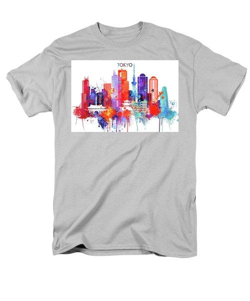 Tokyo Watercolor Men's T-Shirt  (Regular Fit) by Dim Dom