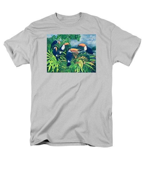 Toucan Talk Men's T-Shirt  (Regular Fit) by Lisa Graa Jensen