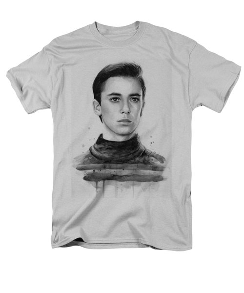 Wesley Crusher Star Trek Fan Art Men's T-Shirt  (Regular Fit) by Olga Shvartsur