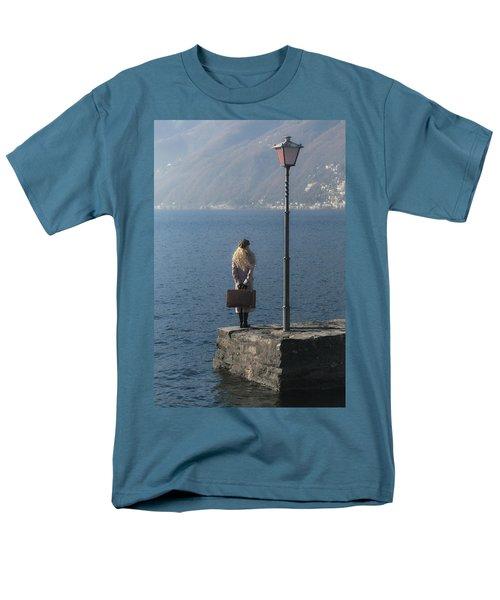 woman on jetty T-Shirt by Joana Kruse