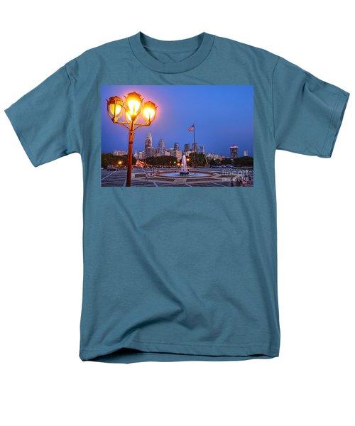 Philadelphia at Dusk T-Shirt by Olivier Le Queinec