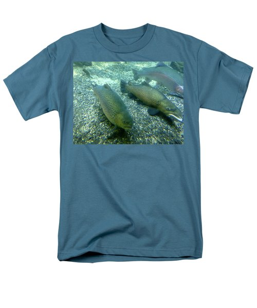 Rainbow trout T-Shirt by Les Cunliffe