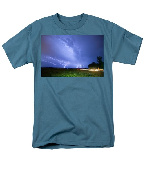 95th and Woodland Lightning Thunderstorm View T-Shirt by James BO  Insogna