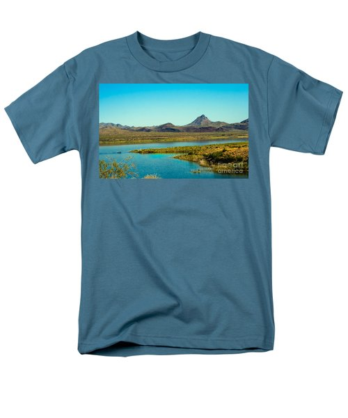Alamo Lake Men's T-Shirt  (Regular Fit) by Robert Bales