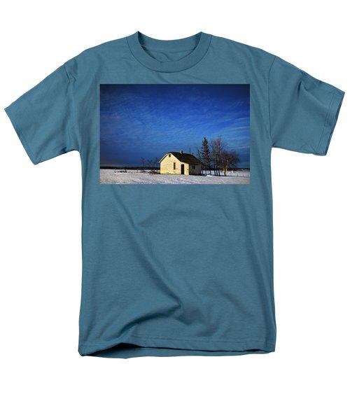 An Abandoned Homestead On A Snow T-Shirt by Steve Nagy